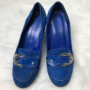 Marc Fisher Camella 2 Blue Wedge Heel Size 8